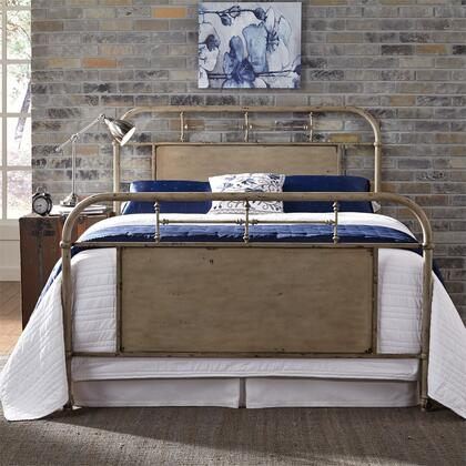 Vintage Series 179-BR15HFR-W King Size Metal Bed with Turned Spindles Headboard and Footboard in Vintage