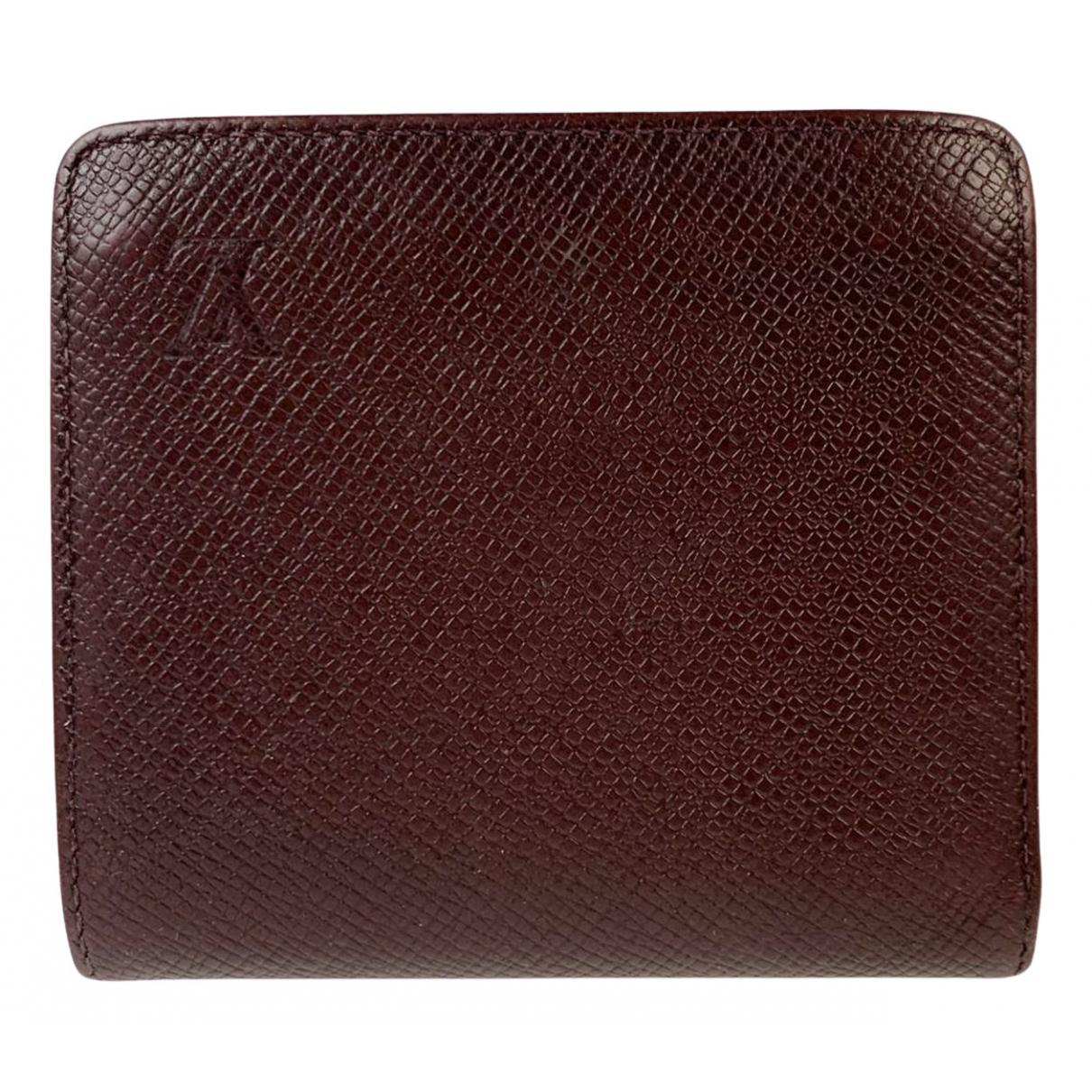 Louis Vuitton - Petite maroquinerie Marco pour homme en cuir - bordeaux