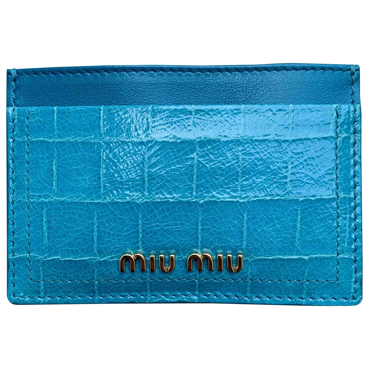 Miu Miu \N Leather Small bag, wallet & cases for Men \N