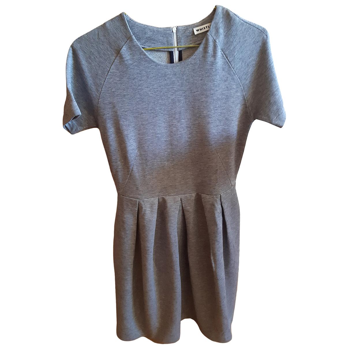 Whistles \N Kleid in  Grau Baumwolle