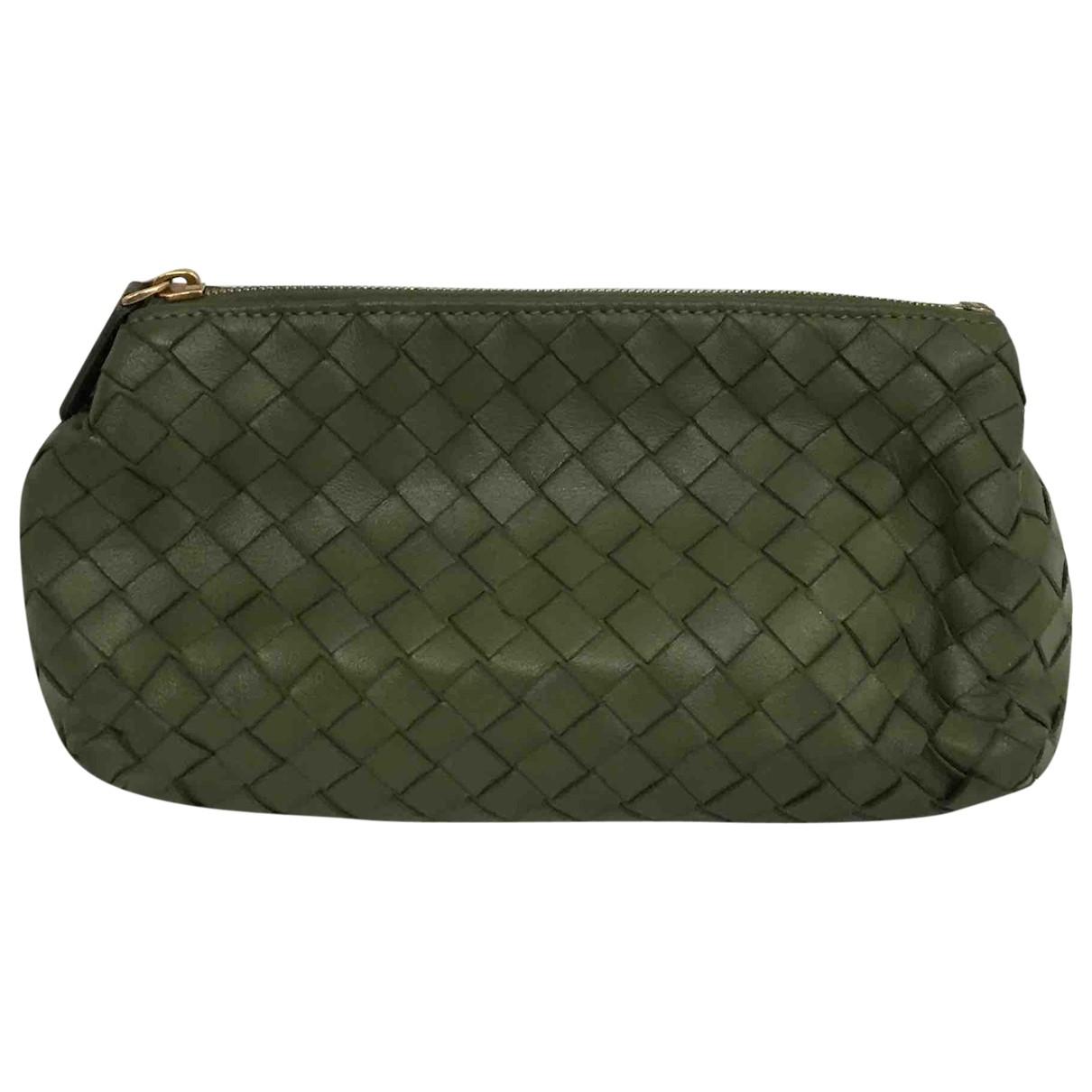 Bottega Veneta - Sac de voyage   pour femme en cuir - vert