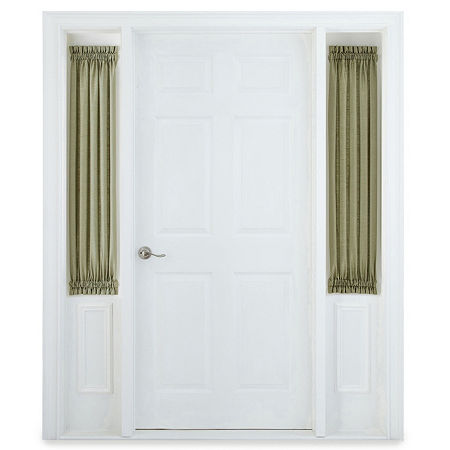 JCPenney Home Supreme Sheer Rod-Pocket Single Sidelight Curtain, One Size , Green