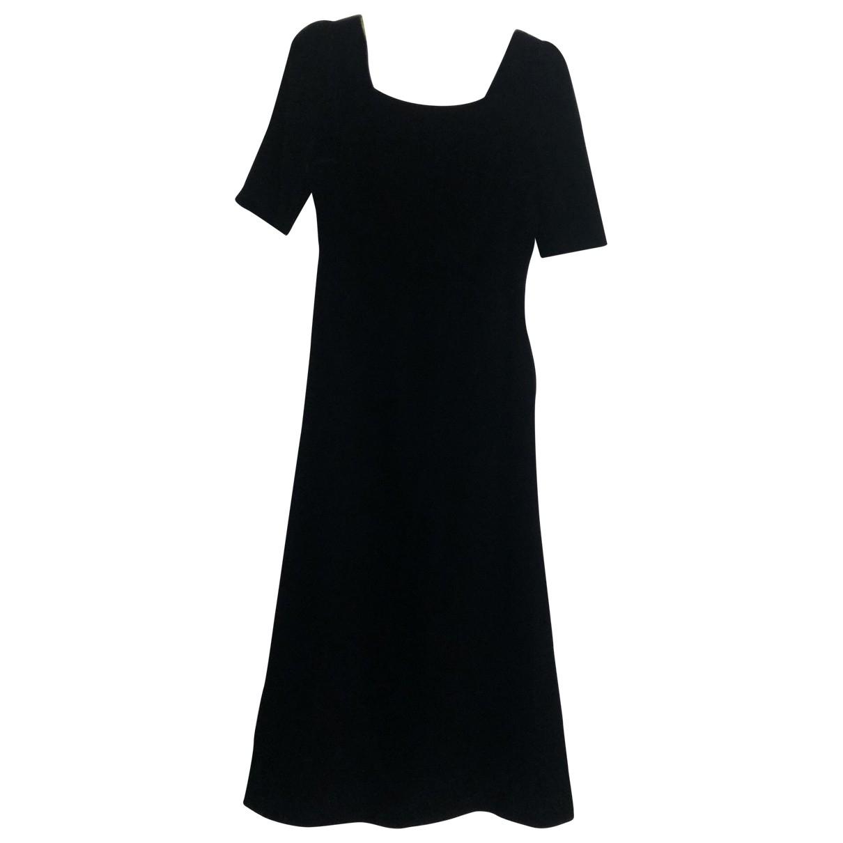 Saint Laurent \N Black Velvet dress for Women 36 FR