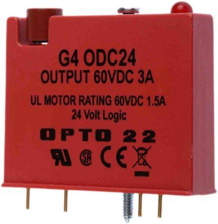 Opto 22 G4 PLC I/O Module - 3 A Output Current, 5 → 60 V dc