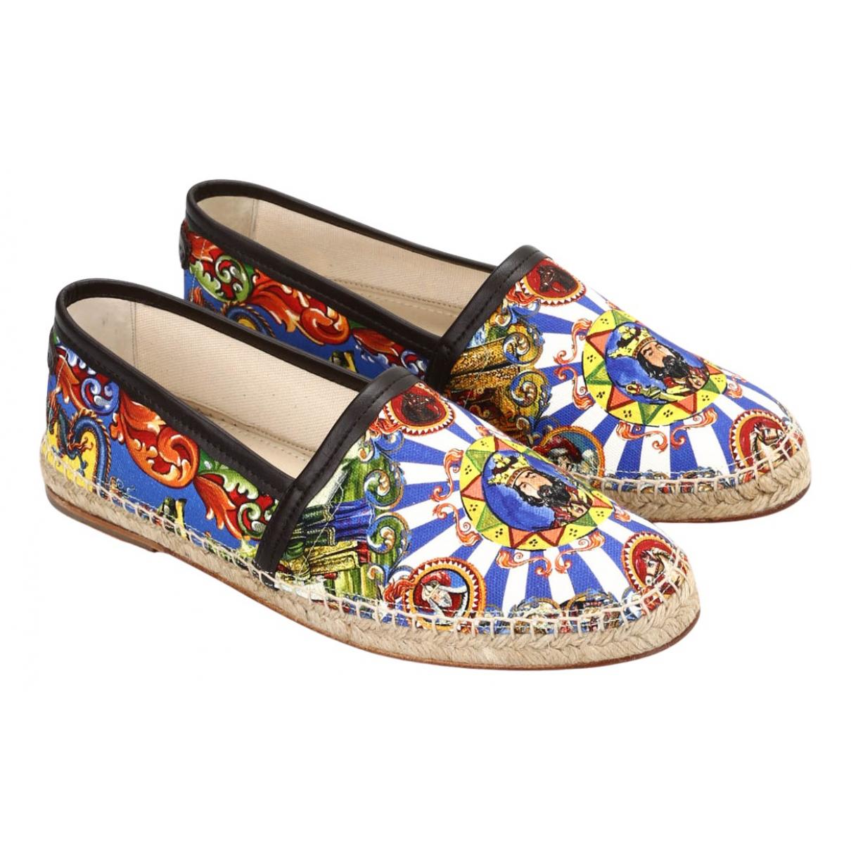 Dolce & Gabbana - Espadrilles   pour homme en toile - multicolore