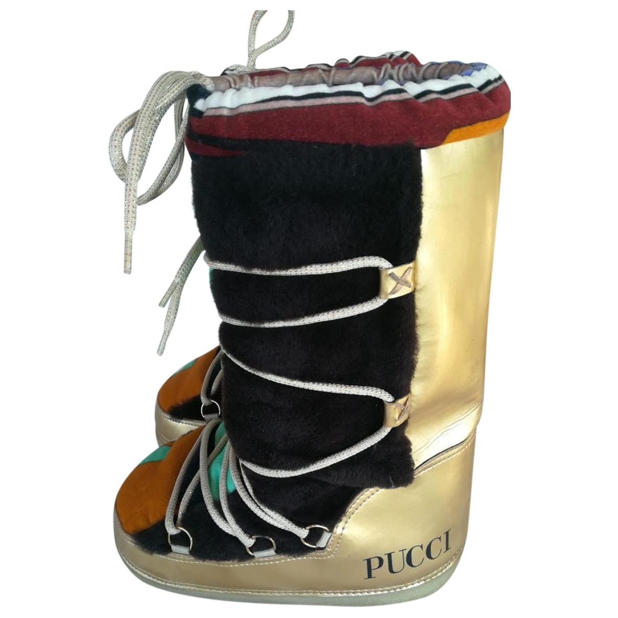 Emilio Pucci \N Stiefel in  Bunt Leinen