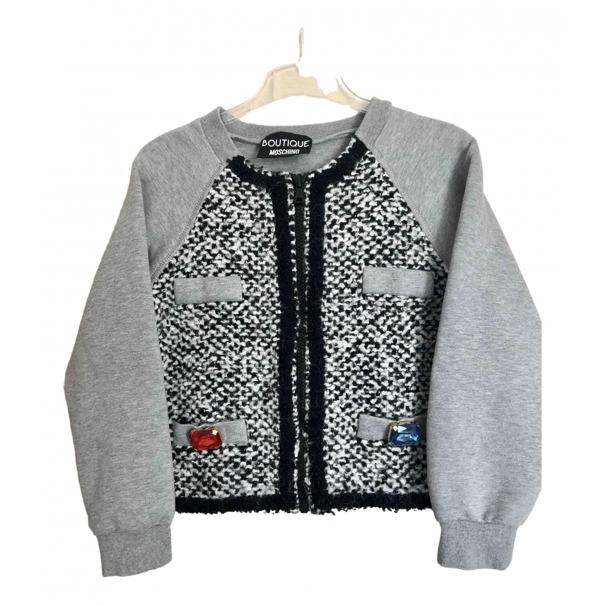 Moschino - Veste   pour femme en coton - gris