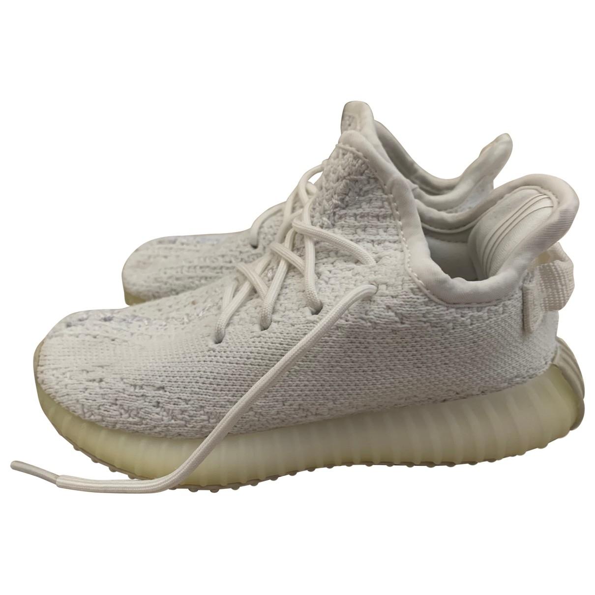 Yeezy X Adidas - Baskets Boost 350 V2 pour enfant en toile - blanc