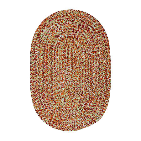 Colonial Mills Kelly Braided Oval Reversible Indoor/Outdoor Rugs, One Size , Brown