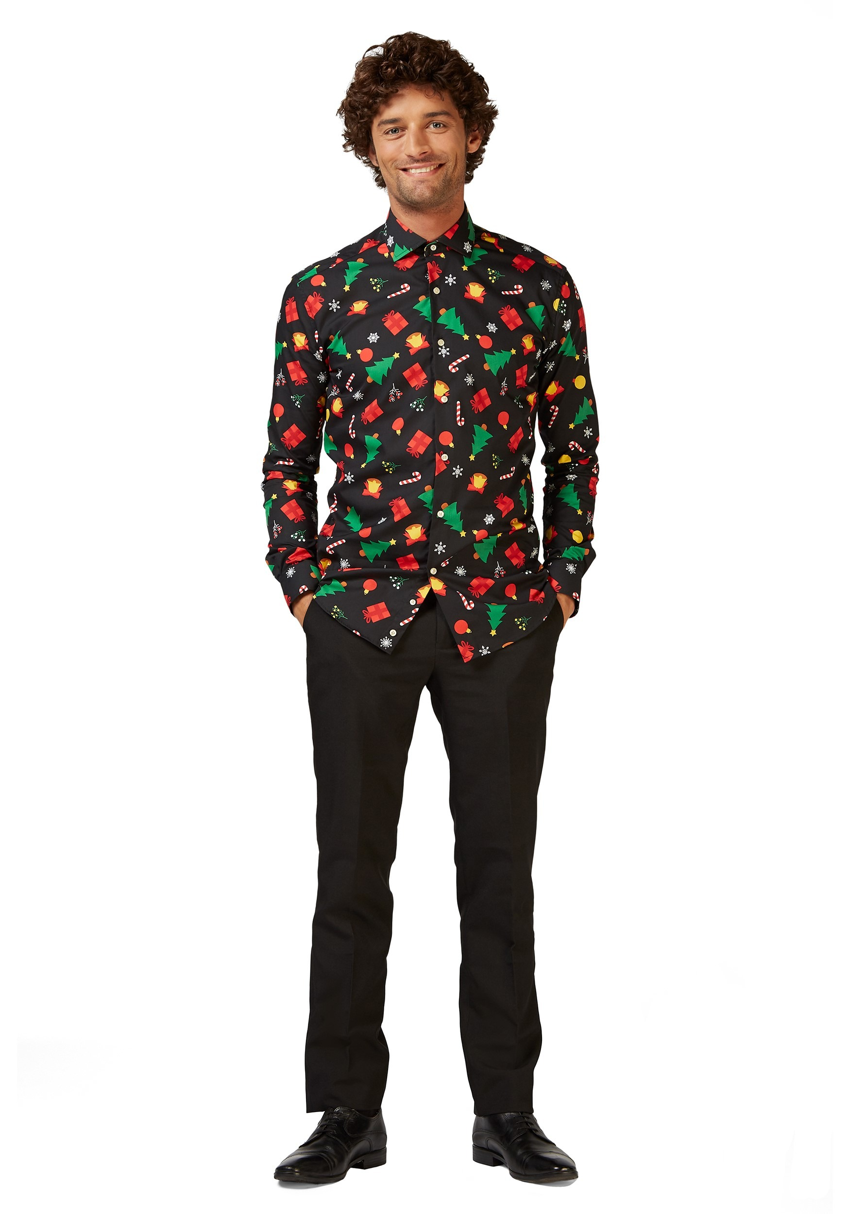 Christmas Icons Adult Button-up Shirt