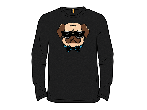Hipster Pug Pullover Hoodie