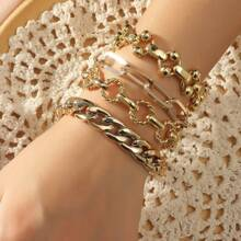 4 Stuecke Armband mit Kette