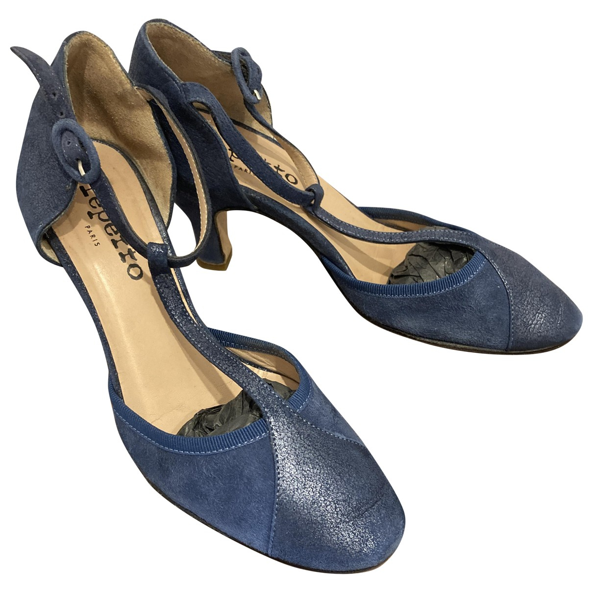 Repetto \N Blue Leather Heels for Women 36 EU