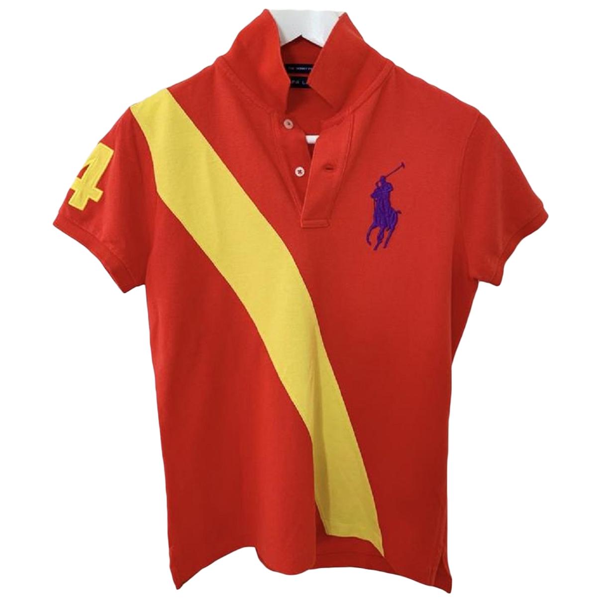 Ralph Lauren - Polos   pour homme en coton - rouge