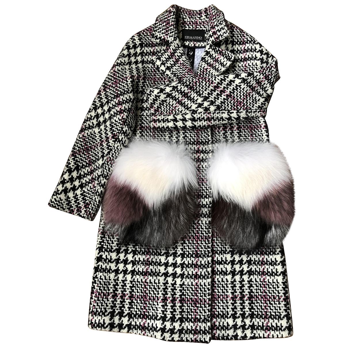 Ermanno Scervino - Manteau   pour femme en laine