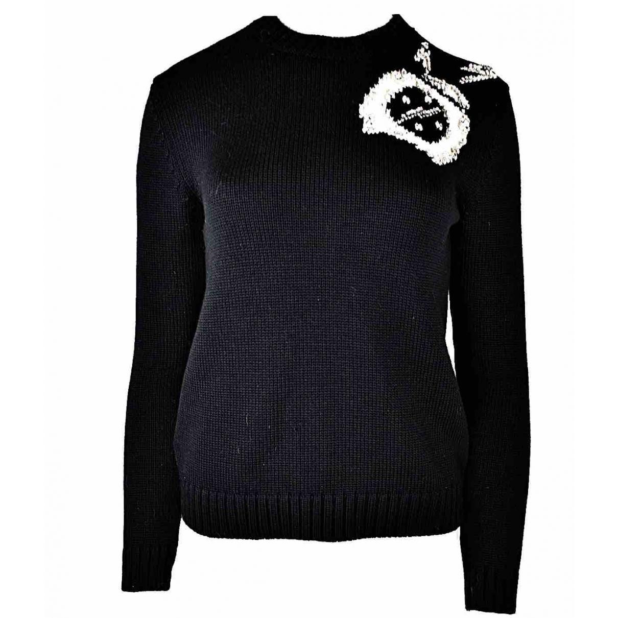 Miu Miu - Pull   pour femme en laine - noir