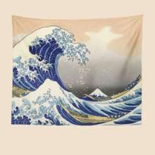 The Great Wave off Kanagawa Print Tapestry