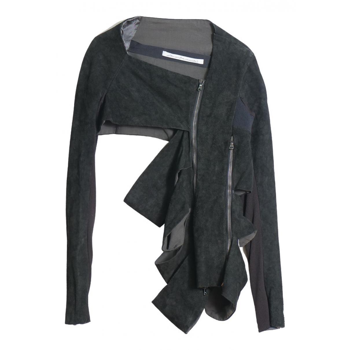 Alessandra Marchi - Veste   pour femme en cuir - noir