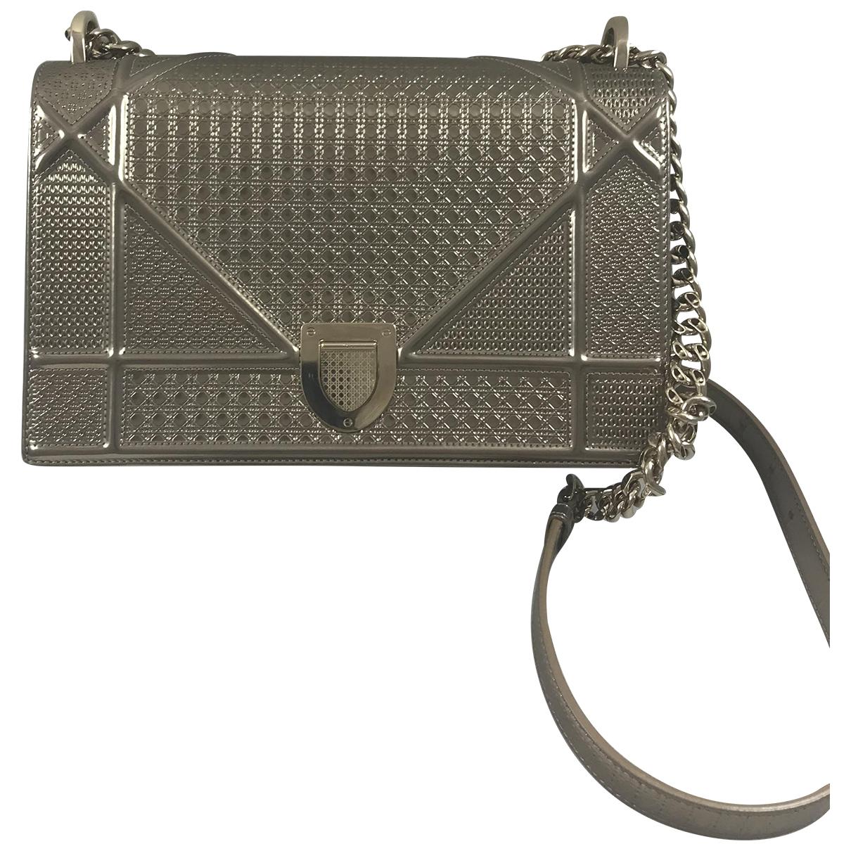 Dior Diorama Gold Patent leather handbag for Women \N