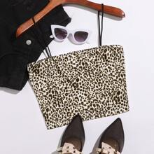 Crop Cami Top mit Leopard Muster