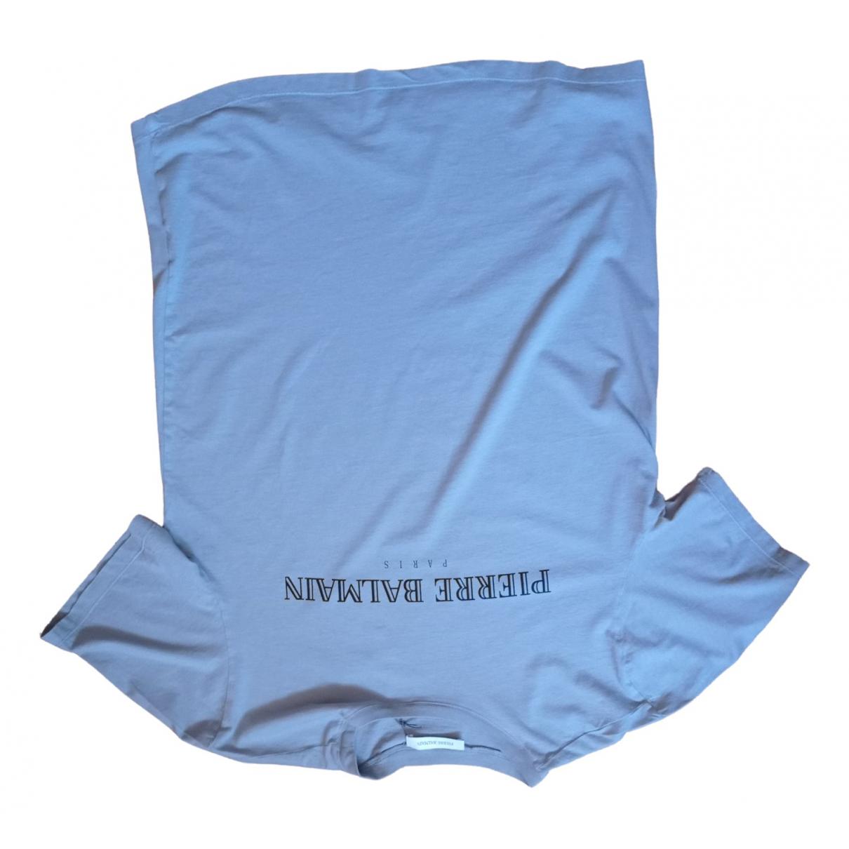Pierre Balmain - Tee shirts   pour homme en coton - gris