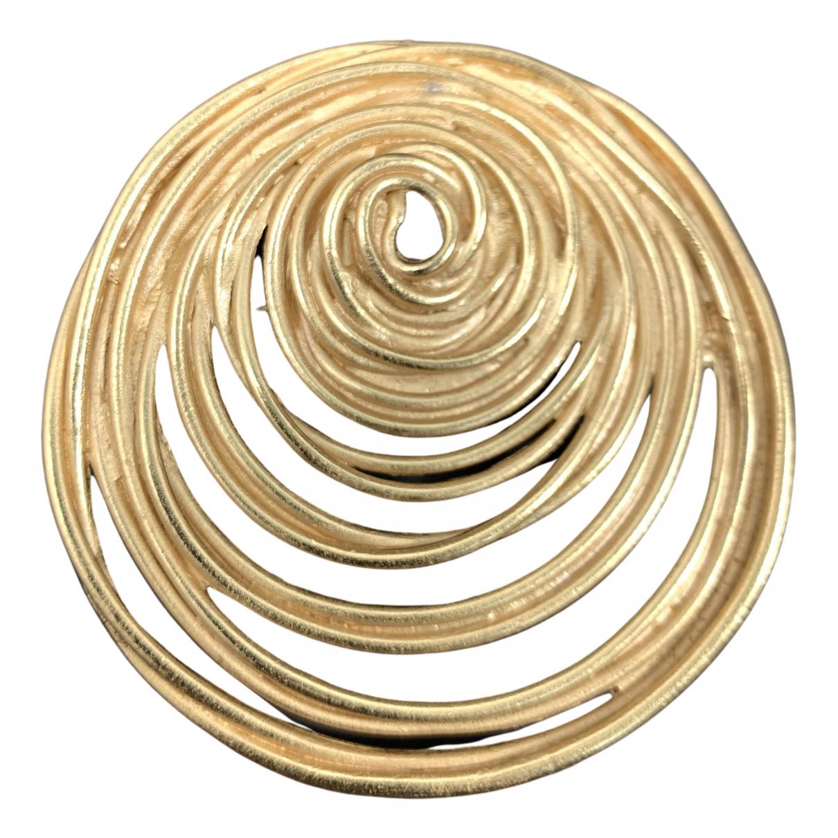 Balenciaga \N Brosche in  Gold Vergoldet