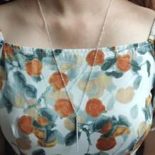 Halskette mit Leiste Anhaenger