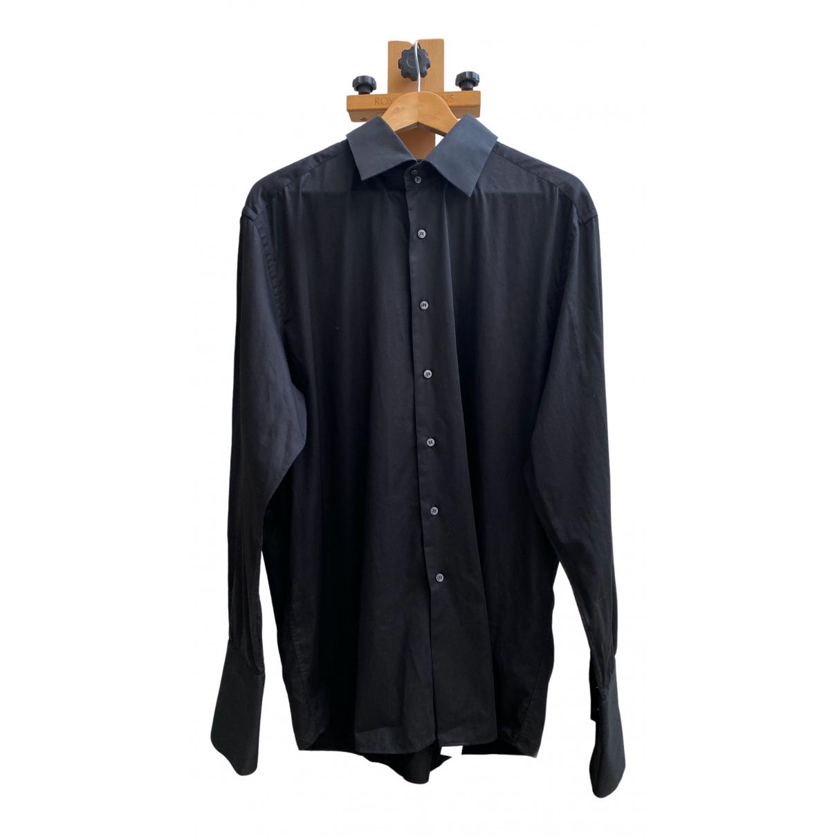 Pierre Cardin - Chemises   pour homme en coton - noir