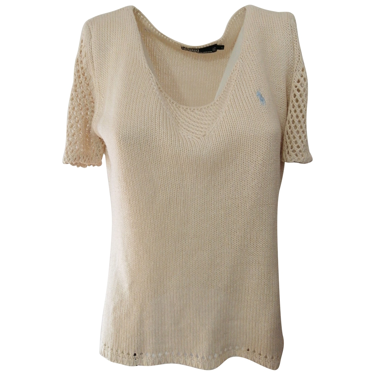 Polo Ralph Lauren - Top   pour femme en coton - beige