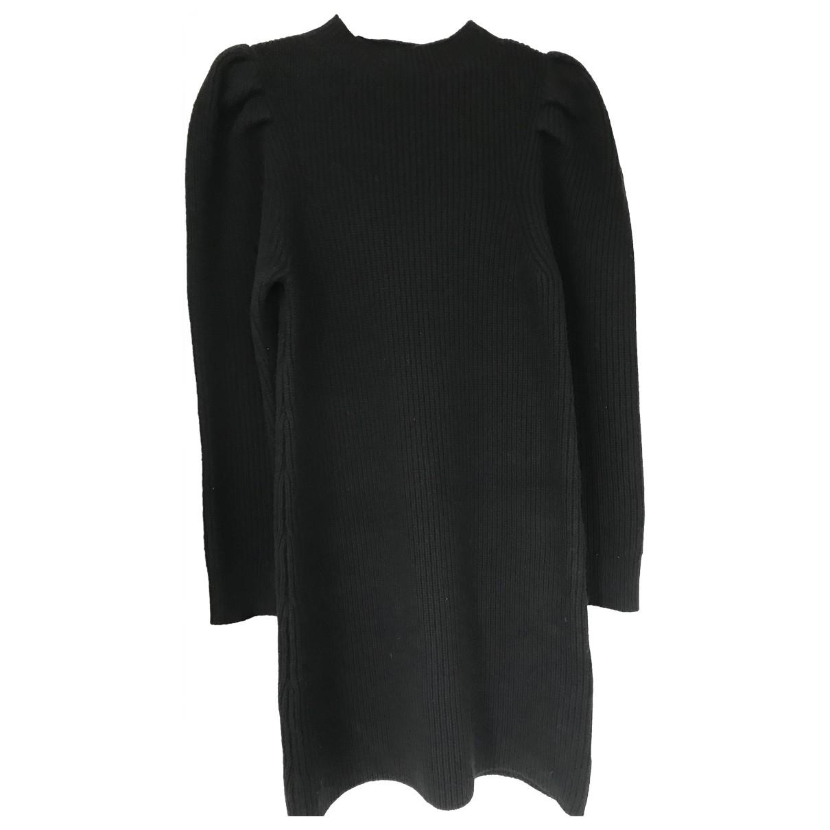 Sandro \N Black Wool dress for Women 40 FR