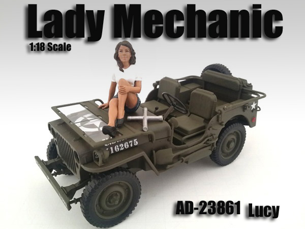 Lady Mechanic Lucy Figure For 118 Scale Models by American Diorama