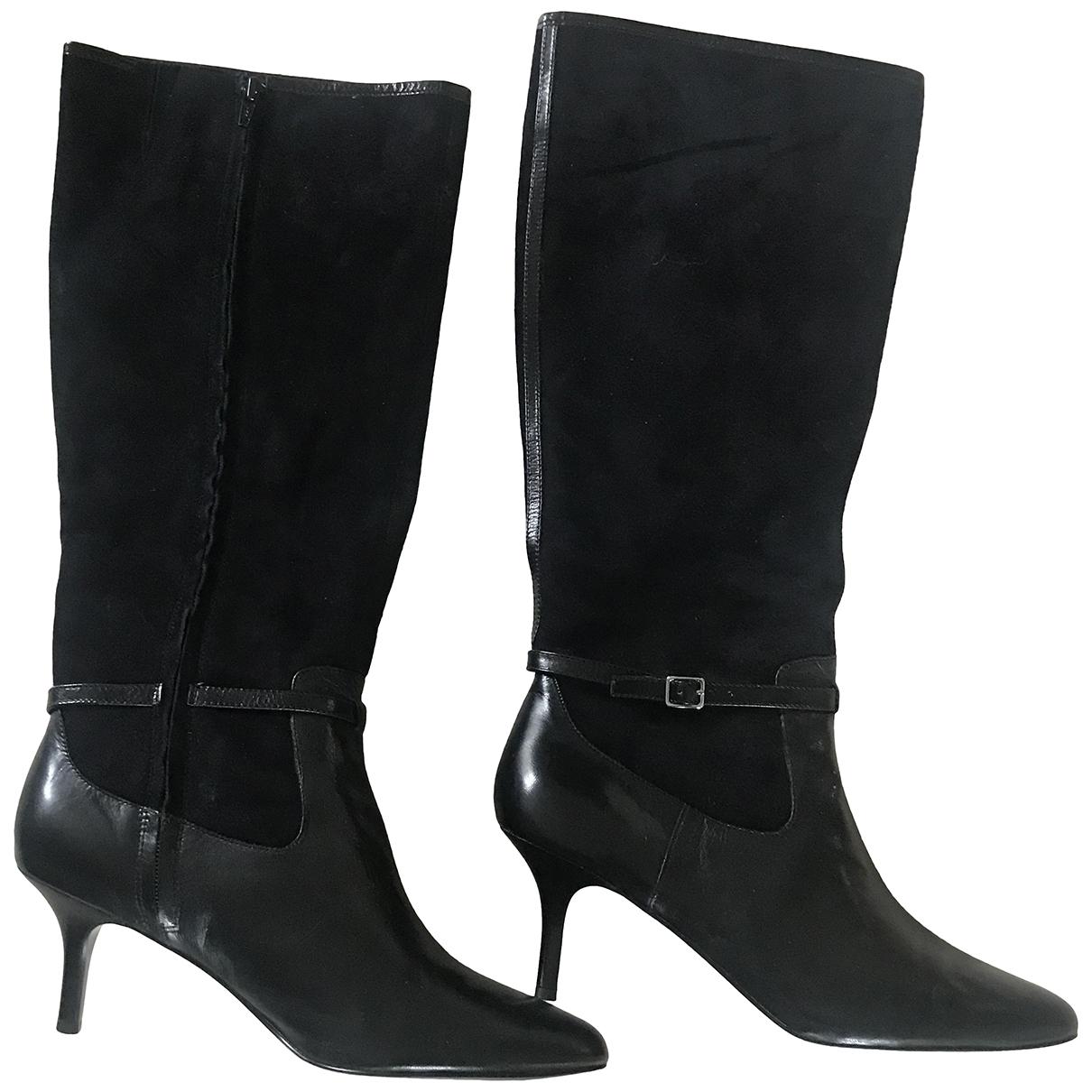 Lauren Ralph Lauren - Bottes   pour femme en cuir - noir