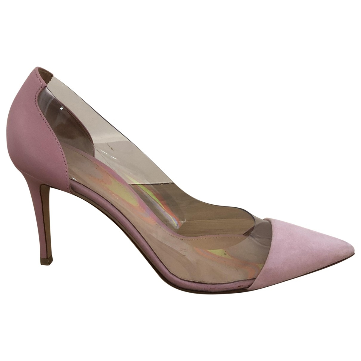 Gianvito Rossi Plexi Pink Heels for Women 40 EU