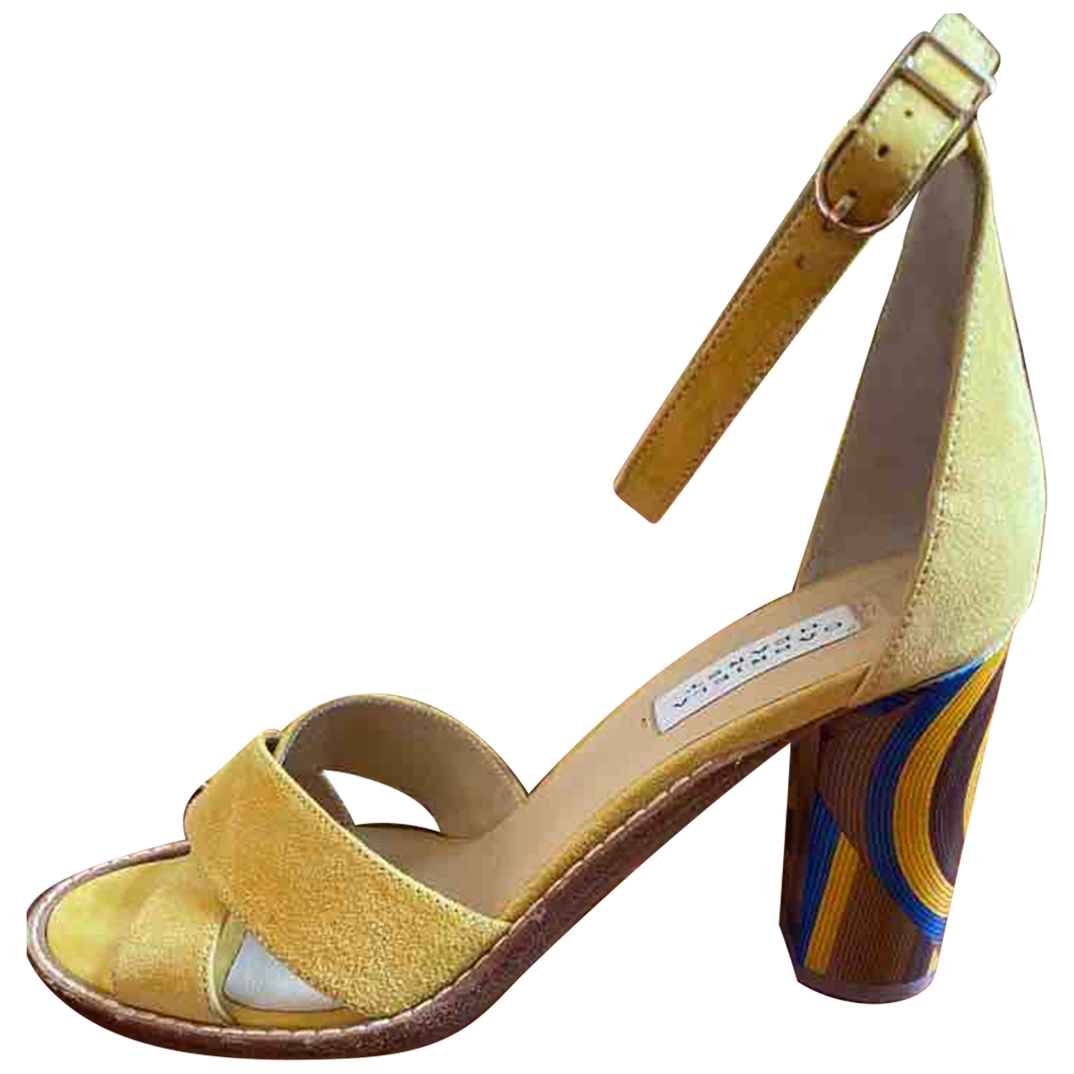 Gabriela Hearst \N Yellow Suede Sandals for Women 40 EU