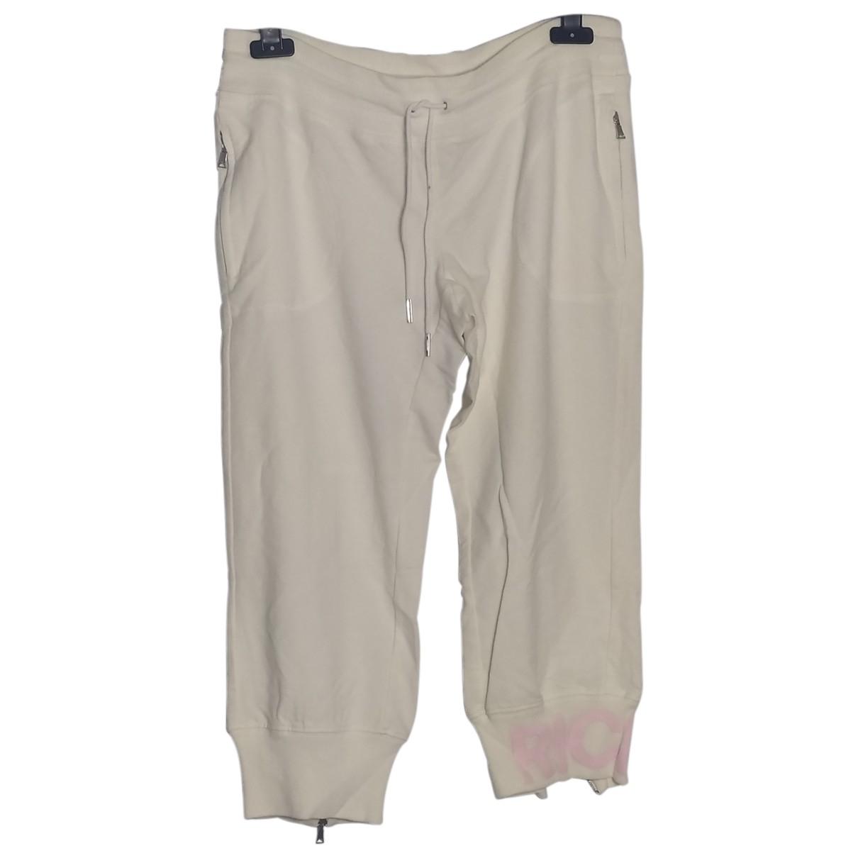 John Richmond N White Cotton Trousers for Women 44 IT