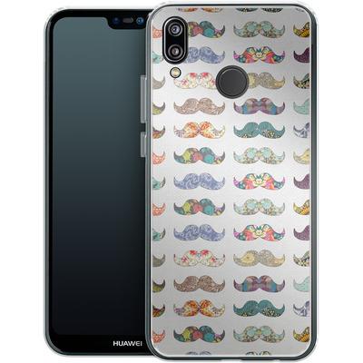 Huawei P20 Lite Silikon Handyhuelle - Mustache Mania von Bianca Green
