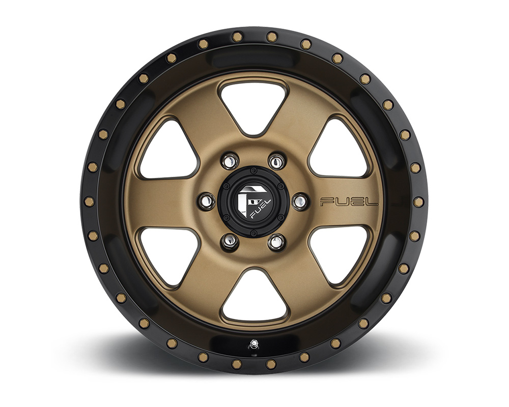 Fuel D617 Podium Bronze w/ Black Lip 1-Piece Cast Wheel 20x9 8x165.1 01mm