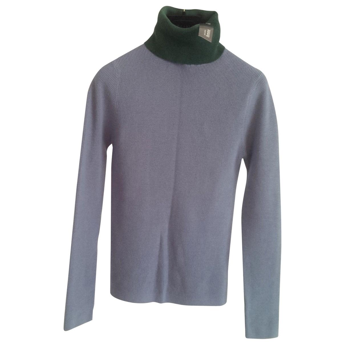 - Pull   pour femme en coton - bleu