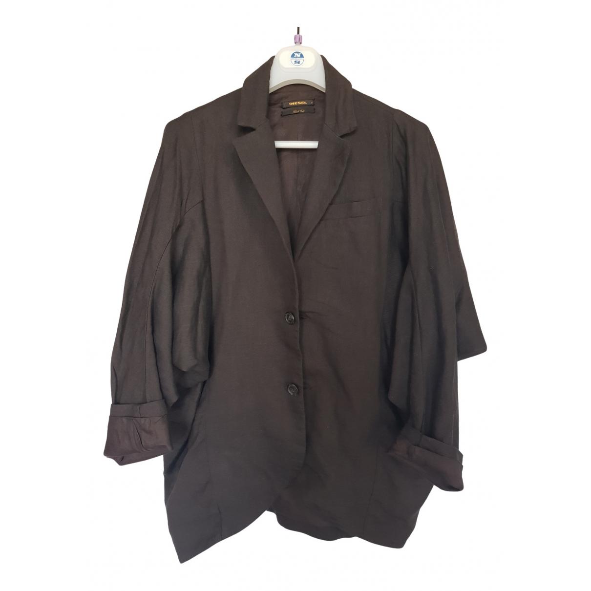 Diesel Black Gold N Brown Wool jacket for Women S International