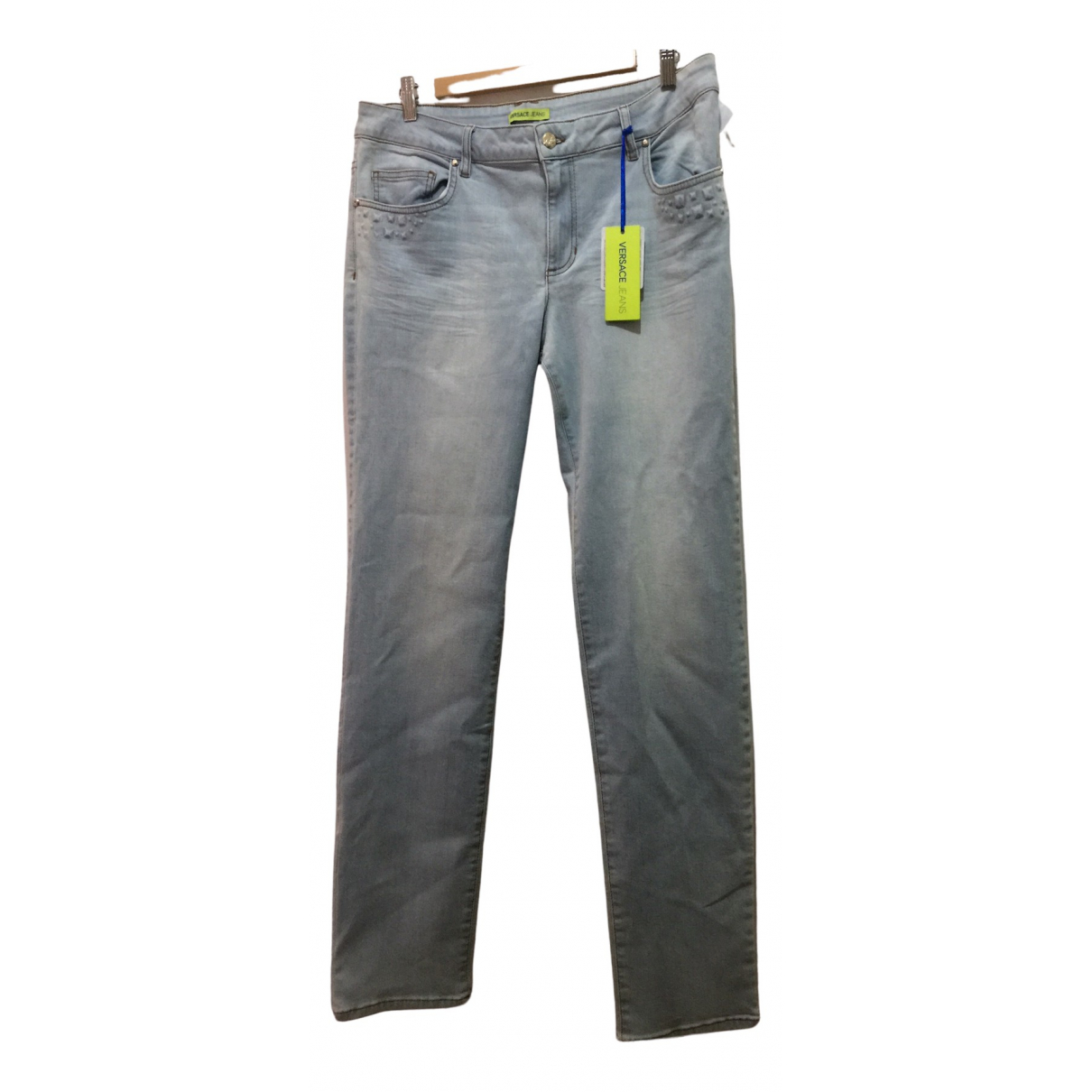 Versace Jeans \N Blue Cotton - elasthane Jeans for Women 32 US