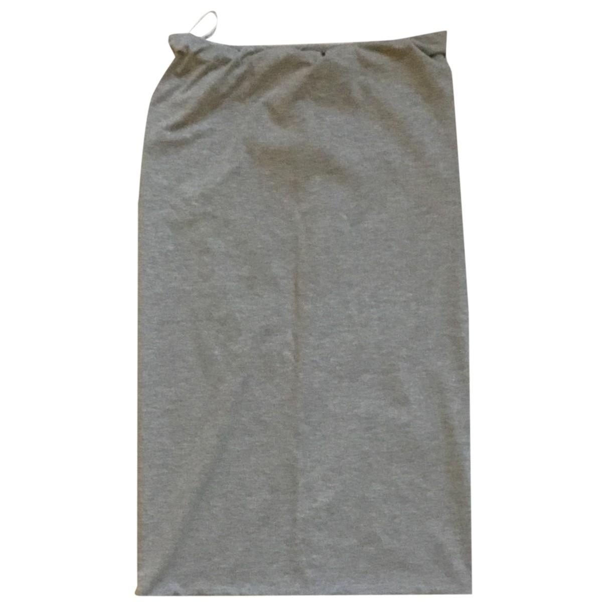 - Jupe   pour femme en coton - elasthane - gris