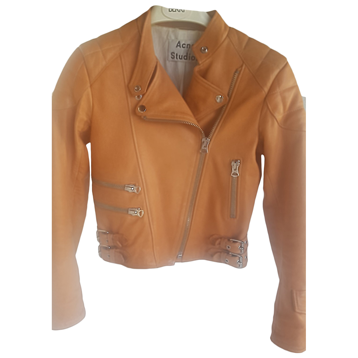 Acne Studios N Camel Leather Leather jacket for Women XS International