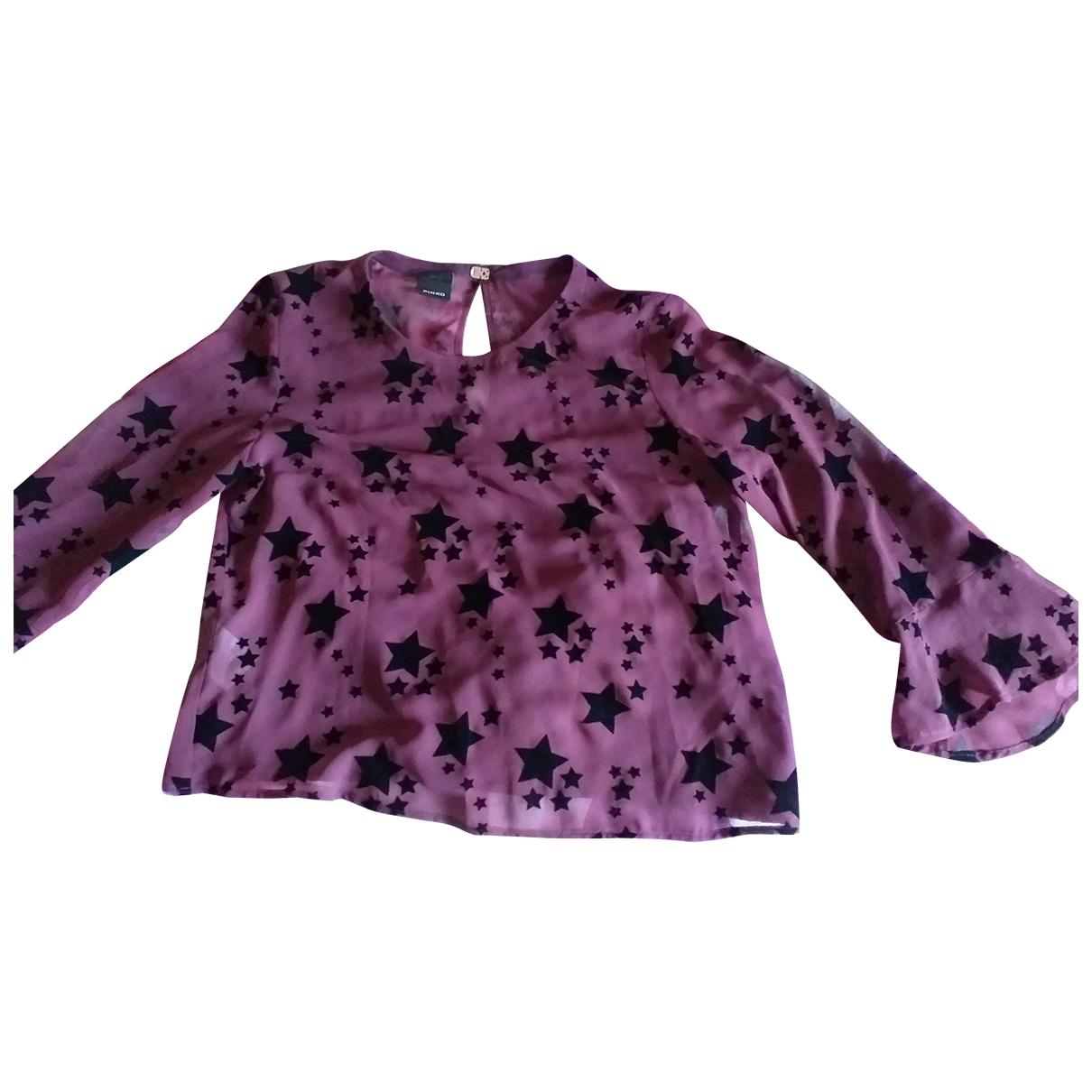 Pinko \N Top in  Bordeauxrot Polyester