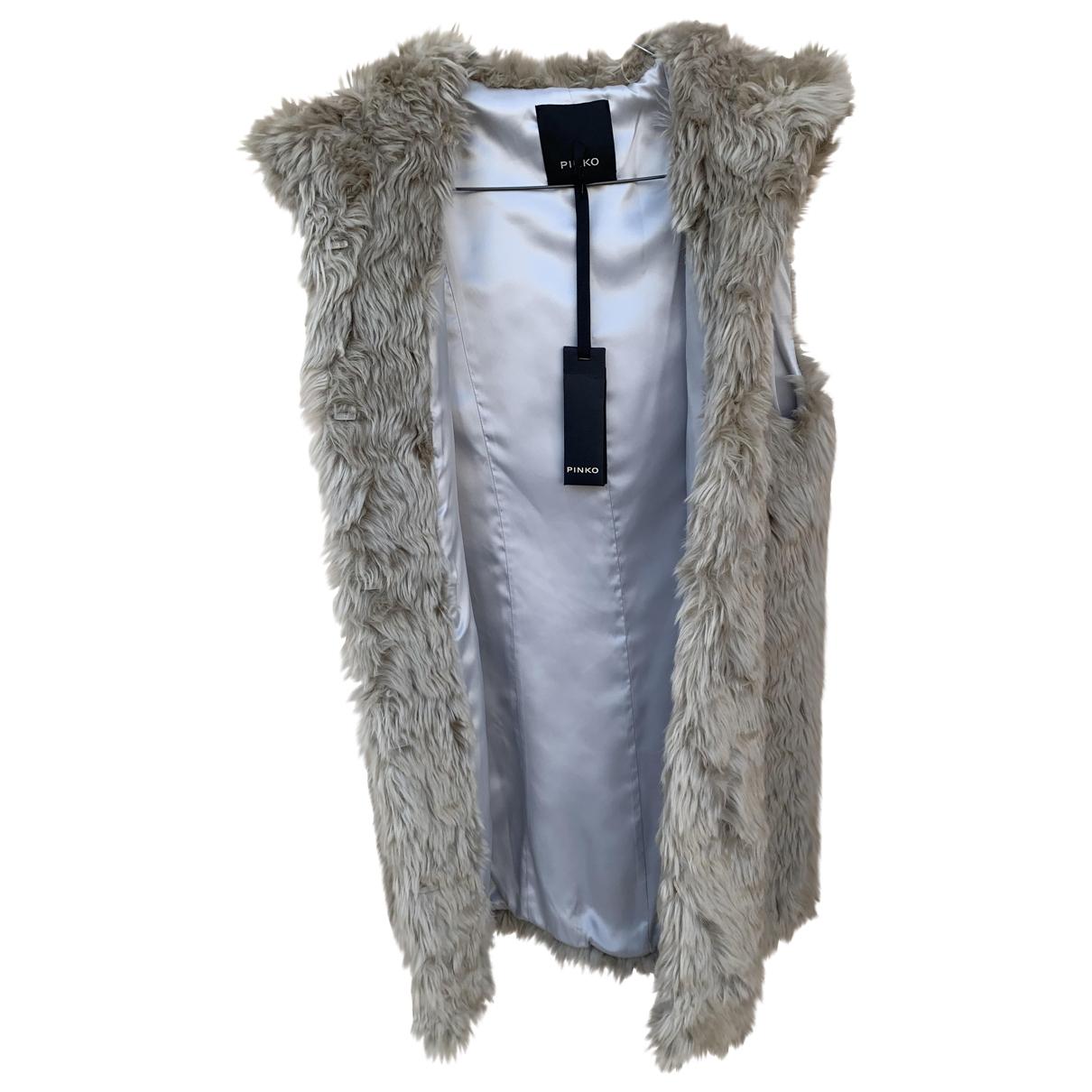Pinko \N Beige Faux fur jacket for Women S International