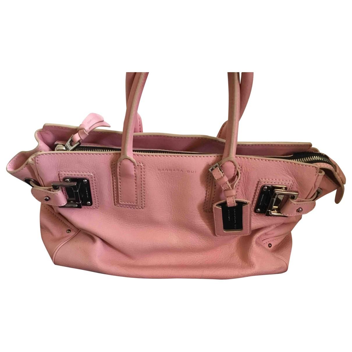 Barbara Bui \N Pink Leather handbag for Women \N