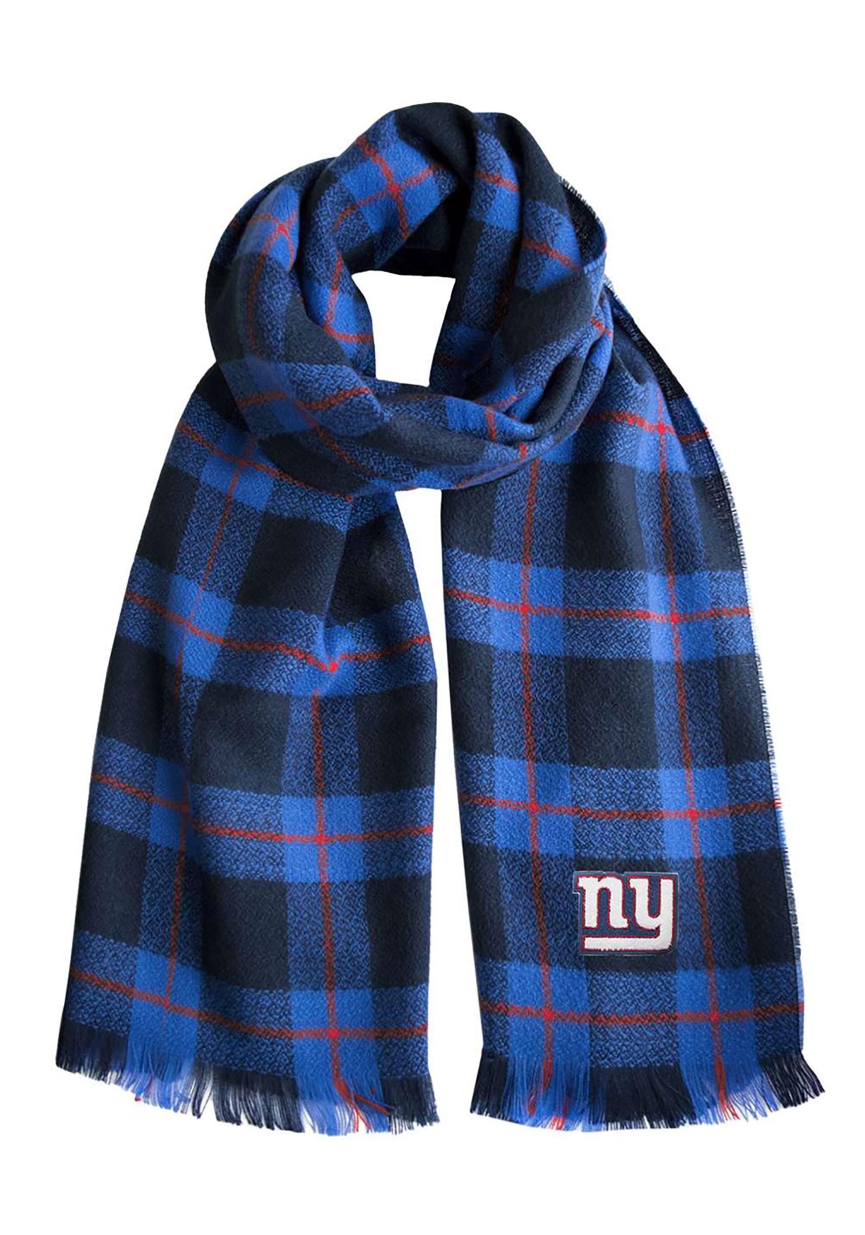 Comfy NFL New York Giants Plaid Blanket Scarf