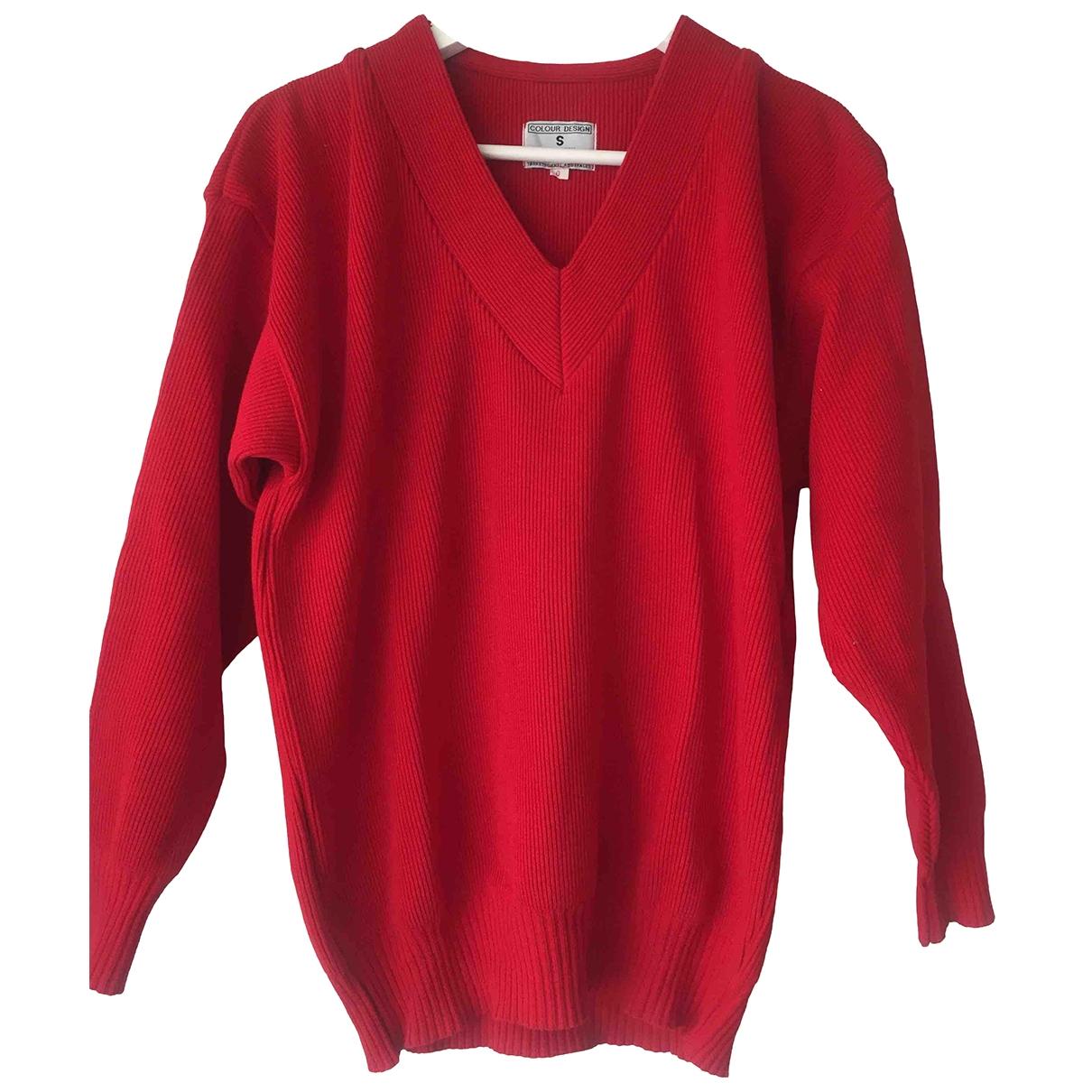 - Pull Oversize pour femme en coton - rouge