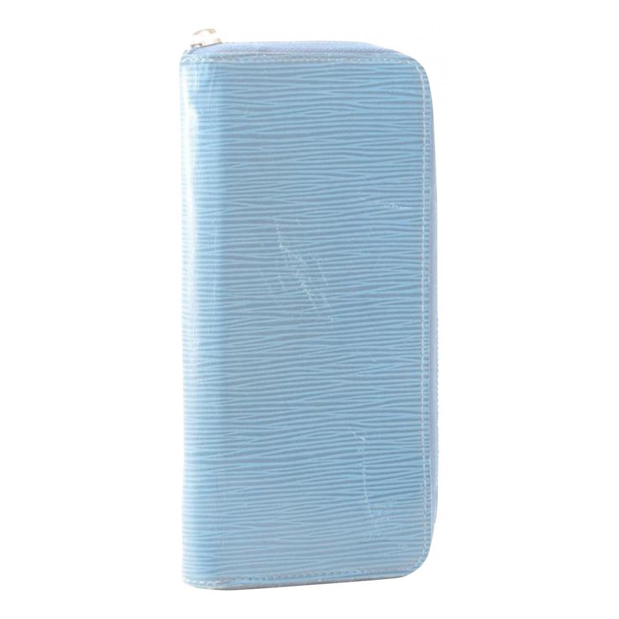 Louis Vuitton - Portefeuille Zippy pour femme en cuir verni - bleu