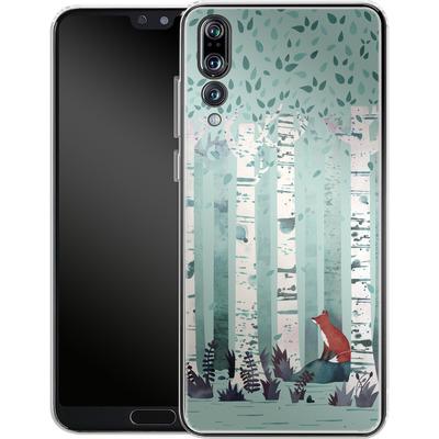 Huawei P20 Pro Silikon Handyhuelle - Birches von Little Clyde