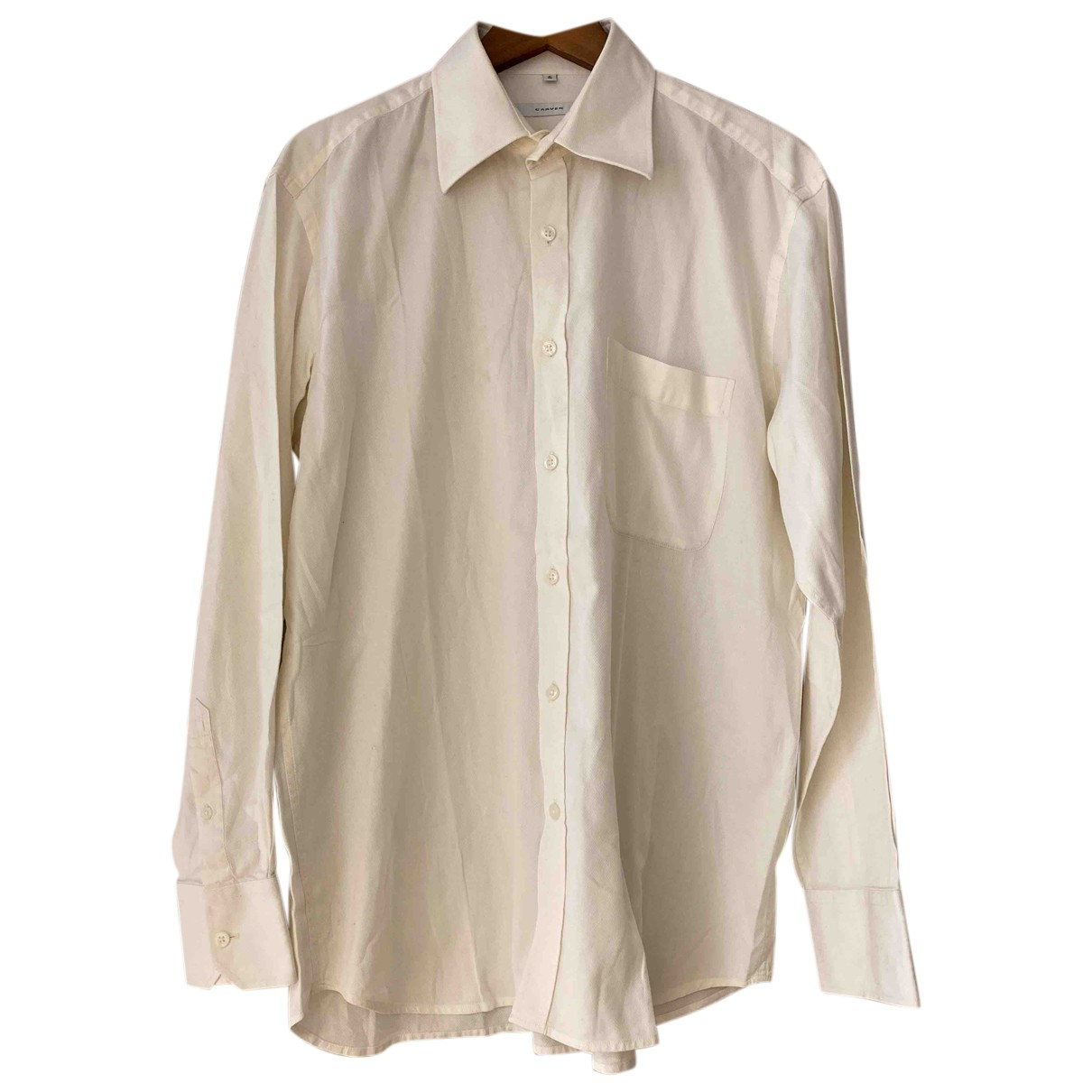 Carven N Ecru Cotton Shirts for Men 41 EU (tour de cou / collar)